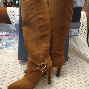 Vince Camuto Charmina Brown Suede Tall Boots NWT